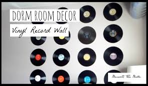 on wall art using vinyl records with dorm room decor diy vinyl record wall youtube