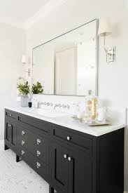 bathroom vanity black. A Gorgeous Black Bathroom Vanity Sits On Maze Marble Floor Tiles And Is Fitted With Polished