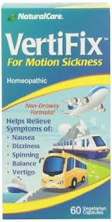 Naturalcare <b>Vertifix for Motion Sickness</b>, 60 Vegetarian Capsules ...