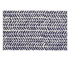 chevron arrows rug 3x5 navy