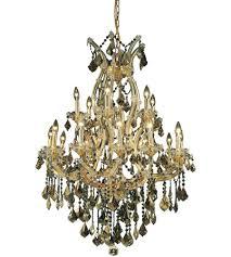 elegant lighting 2800d32g gt rc maria theresa 19 light 32 inch gold dining chandelier ceiling light in golden teak royal cut