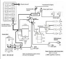 here is a basic wiring diagram with generator