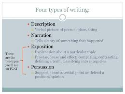 types of essay development ppt video online four types of writing description narration exposition persuasion