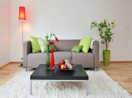one table one sofa one rug can create your own living room with the least money the impressive point of this living room is that the pillows has the same