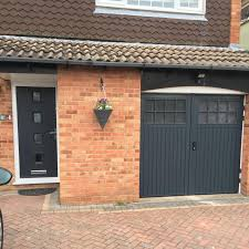 grey front doorMatching Bedford Side Hinged and Front Door in Anthracite Grey