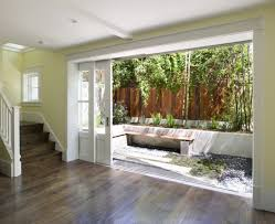 half glass sliding pocket exterior doors