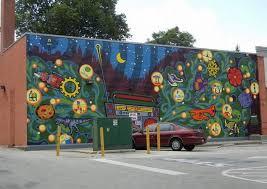 outdoor wall murals