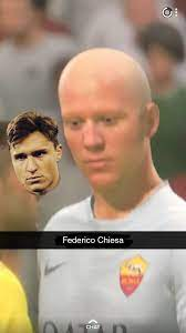 Why does Federico Chiesa look like this in the FIFA 20 beta: FIFA