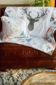 Winter Fawn Patchwork Pillow and Quilt Set - Hawthorne Threads Blog &  Adamdwight.com