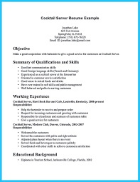 Bartender Resume Templates Resume And Cover Letter Resume And