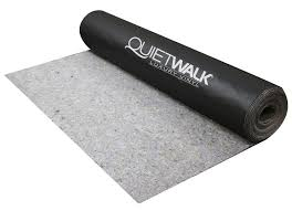 the quietwalk luxury vinyl is thin dense and powerful in sound absorption made with recycled fibers no voc s and antimicrobial built in to disallow mold