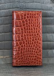 alligator checkbook cover