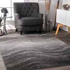 contemporary modern waves design area rug in