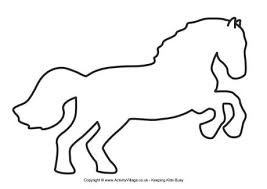 animal templates.  Templates Horse Template 3 Inside Animal Templates
