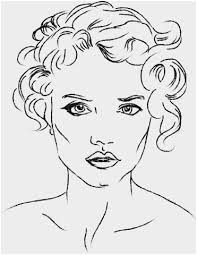 Makeup Coloring Pages To Print Cute Woman S Face Coloring Page