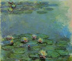 claude monet water lilies oil painting reion