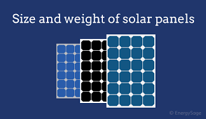 Solar Panel Chart 2019 Average Solar Panel Size And Weight Energysage