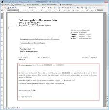 Sehr geehrte damen und herren, Dokumentvorlagen Betreuung De Software Fur Rechtliche Betreuung Bdb At Work