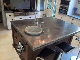 zinc countertop on kitchen island photo source finedesignfabrication com