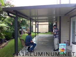 clear covered patio ideas. Aluminum Patio Cover With Fan Beams In Clear Lake - Covered Ideas S