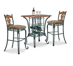 Image Stools Image Unavailable Walmart Amazoncom Piece Bar Table Set With Wine Rack Base Bar Table
