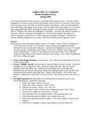 essay reader response how to write a reader response the university of texas at el paso