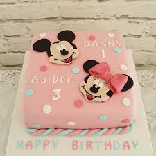 Birthday Cake For Brother Mickey Minnie Birthday Cake For Brother