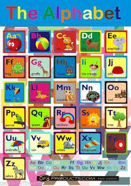 Abc Learning Aid Childrens Educational Alphabet Chart And Free Colouring Sheet