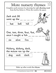 Not only do these worksheets help boost. Nursery Rhyme Jack And Jill Kindergarten Preschool Reading Writing Worksheet Greatschools