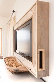 diy rustic style framed television it looks so pretty