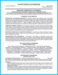 Resume Lawyer Coverer Examples Job Sample Attorney General Counsel