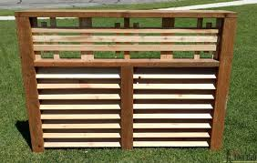 hide that unsightly a c unit or pool equipment with a decorative wood screen