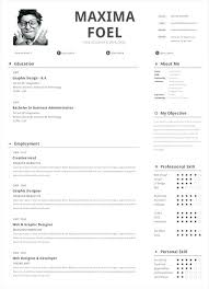 One Page Resume Format Doc 1 Page Resume Template