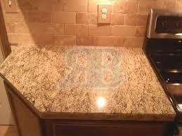 backsplash for santa cecilia granite countertop. 18x31 Granite Mini-slabs And 18x26 Vs. Full Slabs Tile Backsplash For Santa Cecilia Countertop