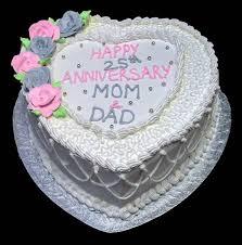 Mom Dad 25th Anniversary Heart Rashmis Bakery