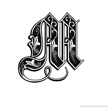 fancy letter m letter m designs celtic alphabet gothique a tattoo pictures to