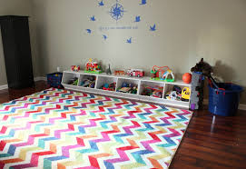 mohawk home rug in playroom via diyonthe com