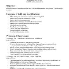 Office Clerk Resume Pdf Sample Customer Service For Accounting