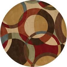 artistic weavers seletar brown 8 ft round area rug