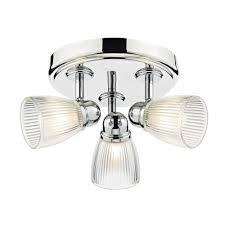 cedric bathroom 3 light round plate spot polished chrome ip44