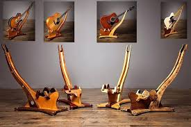 wood guitar stand premium wood guitar stands are made from exotic and domestic wood with every