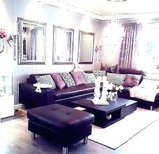 mirror over couch large wall decor behind by sofa ideas long above sectional l