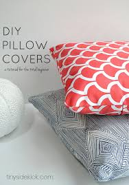 diy how to sew envelope throw pillow covers for couch tutorial