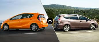 2015 Toyota Prius c vs 2015 Toyota Prius V