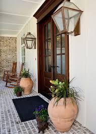35 front door flower pots for a good