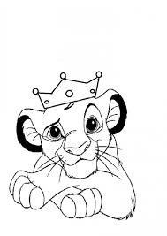 Small Picture Extraordinary Disney Lion King Coloring Pages In Minimalist