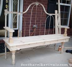 Metal Bedroom Bench Diy Repurposed Metal Headboard Bench Southern Revivals