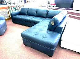 navy blue sectional couch sofa leather editions dark canada with white piping