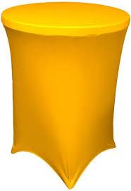 la linen spandex round tablecloth for cocktail table 36 by 42 inch 36 inch round 42 inch high cocktail table yellow 1pk36r42hspandexyellowx47