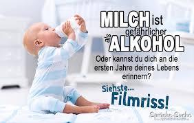 Milch Ist Gefährlicher Als Alkohol Lustiger Spruch Mit Baby